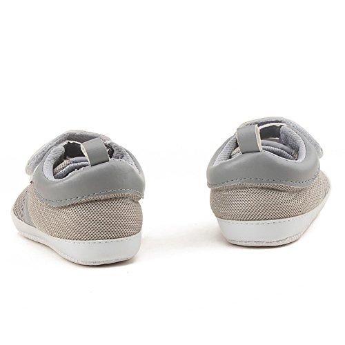 BOBORA Bebe Que Cose Los Zapatos Del Nino Del Ocio De Los Deportes Antirresbaladizo Luz gris