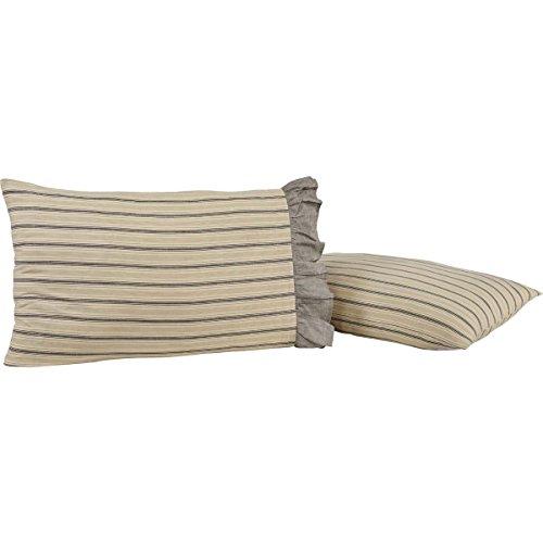 VHC Brands Farmhouse Bedding-Sawyer Mill Tan Pillow Case Set