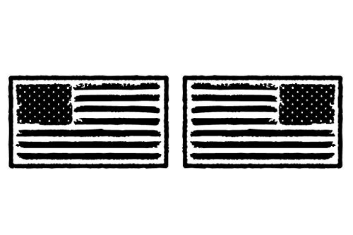 The Pixel Hut gs00228 Reflective Black USA Distressed Flag Hood Decal - American Hut