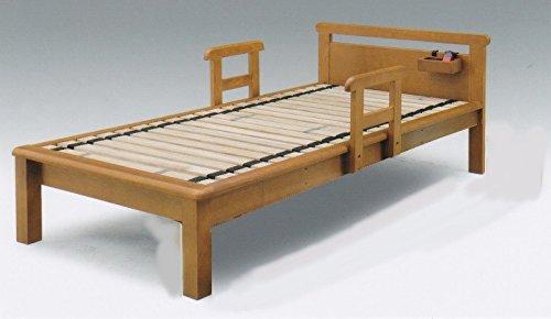 ベッド スノコベッド シングル 手すり2本付き ロングサイズ EDO B07DKY63FF