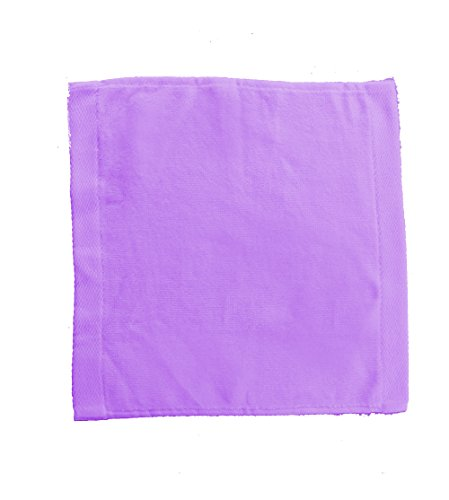 RobeSale Cotton Velour Towels for WashCloth, Lavender, Set of 12 ()