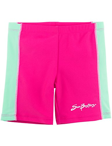 SunBusters Girls Swim Shorts(UPF 50+), Poppy, 6/7 yrs