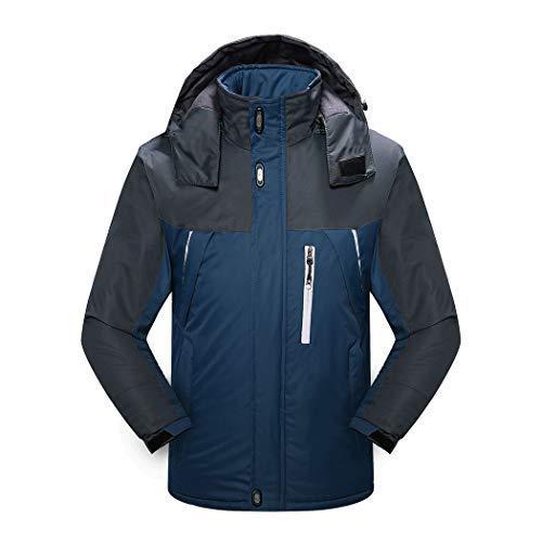 En Gjfeng Épais Manteau Bleu Froid Foncé Coton r54rnBWcv