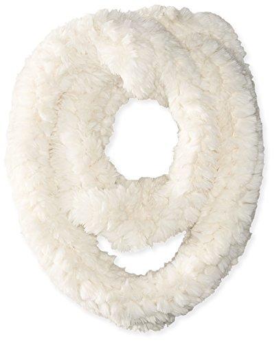 La Fiorentina Women's Faux Fur Infinity Scarf, Ivory, One - Sale Black Fri