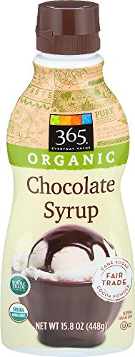 365 Everyday Value, Organic Chocolate Syrup, 15.8 Ounce