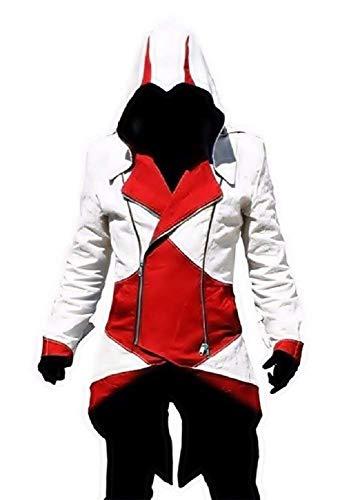 Chaqueta Idea Carnaval Assassin Hombre Rojo Regalo Infinite De Cosplay Halloween Creed Asesino Inception Creencia Disfraz Blanco Pro zfRE7E