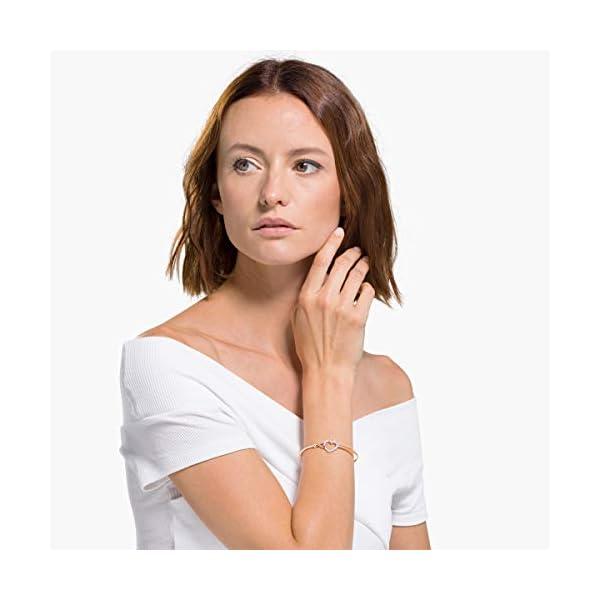 Swarovski Bracciale Rigido Infinity da Donna, Placcato Rodio, Bianco 4