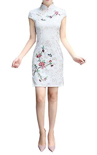 丁寧属する不純XueXian(TM) 夏 チャイナドレス 中華風チーパオ ヴィンテージ 中華風 パーディードレス ステージ衣装 おしゃれ