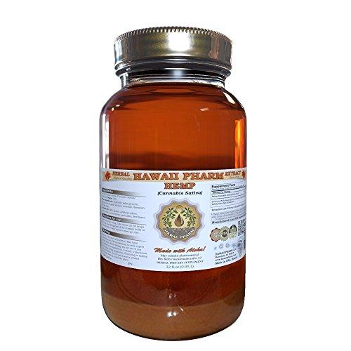 Hemp Liquid Extract, Hemp (Cannabis Sativa) Seed Tincture Supplement 32 oz by Hawaii Pharm LLC