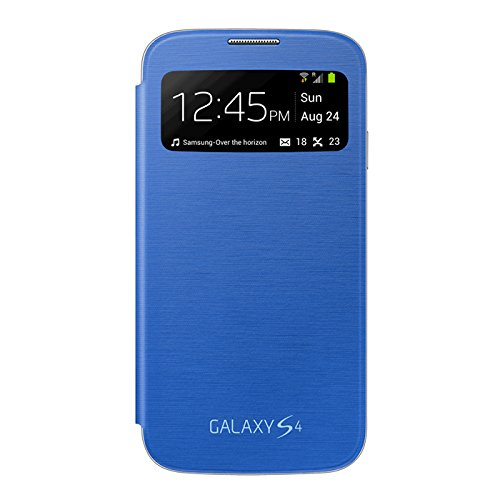Samsung Galaxy S4 S-View Flip Cover Folio Case (Light Blue)
