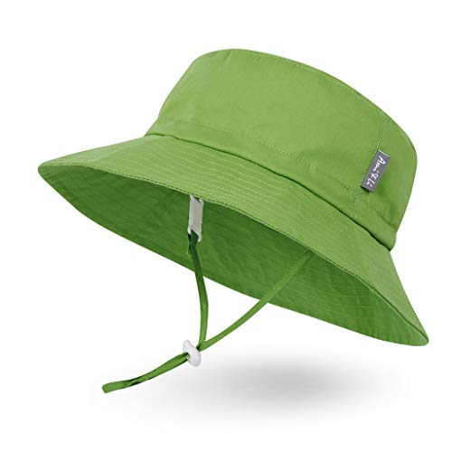 Ami&Li tots Adjustable Sunscreen Bucket Sun Protection Summer Hat for Baby Girl Boy Infant Kid Toddler Child UPF 137 Green