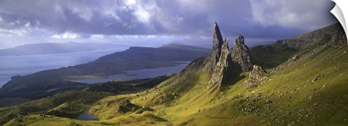 Old Hill Print (Canvas on Demand Wall Peel Wall Art Print entitled Rock formations on hill, Old Man of Storr, Isle of Skye, Scotland 72