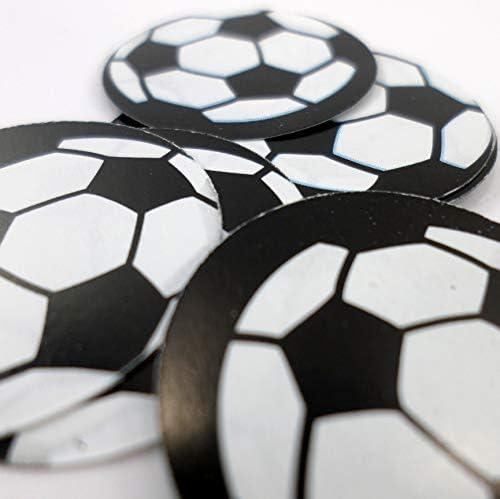 150 Confeti de mesa en forma de balón de fútbol, de 2,5 cm de ...