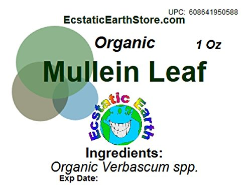 Organic Mullein Leaf Dried ~ 1 Ounce ~ Verbascum spp. by Ecstatic Earth (Image #1)