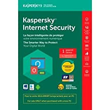 Kaspersky Internet Security 2018 Tech-Bench, 1-User, OEM (KL19411BAFS-1822CYD) | in DVD Case, for PC/Mac, English/French | for Sale only When Purchased with a PC