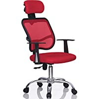 Gotobuy Mesh Computer Office Chair Desk Highback Task (Red)