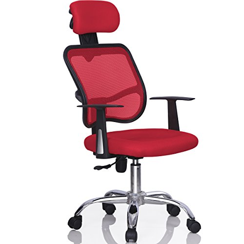 Yaheetech Red High back Adjustable Executive Office Computer