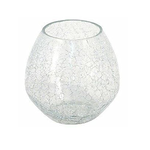 Insideretail 100310-3-CLEAR Crackle Votive, 18cm, Gold, Set of 3