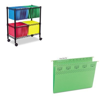 KITALEFW601426BLSMD64042 - Value Kit - Smead Tuff Hanging Folder with Easy Slide Tab (SMD64042) and Best Two-Tier Rolling File Cart (ALEFW601426BL) by Smead