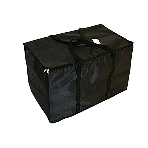 Food Delivery Bag Black Insulated Nylon Heated Pizza/Food Packing Nylon Bag by 23in by 13in by 15inch Black