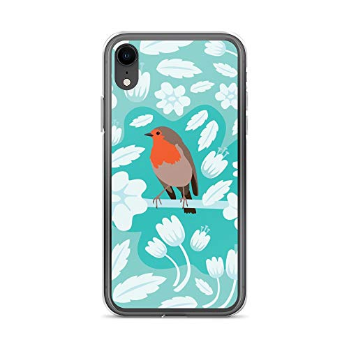 iPhone XR Case Anti-Scratch Creature Animal Transparent Cases Cover Robin Animals Fauna Crystal Clear