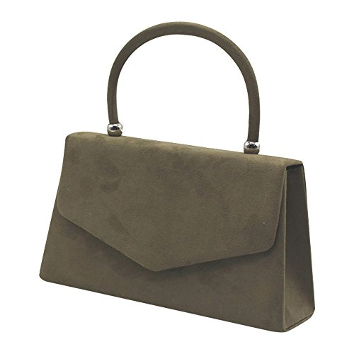 Color Hot Clutch Bag Suede Various Wiwsi Lady Handle Party Leather Tote Handbag Purse ZwBqPAp