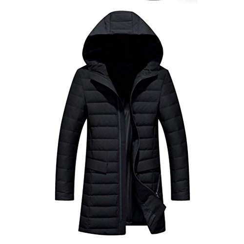 YANXH The New Down jacket Men Winter In the long Section Hooded coat , 17320 black , XXL by YANXH outdoors