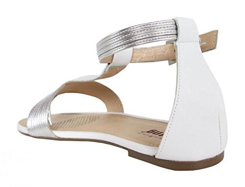 Sandalias de Mujer MTNG 58304 VACHE BLANCO