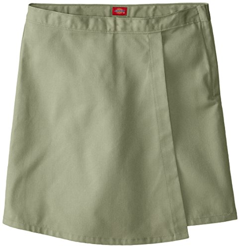 Dickies Big Girls' Faux Wrap Skort, Khaki, 7 Regular