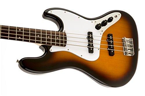 Squier by Fender Affinity Jazz Beginner Electric Bass Guitar - Rosewood Fretboard, Brown Sunburst by Squier (Image #4)