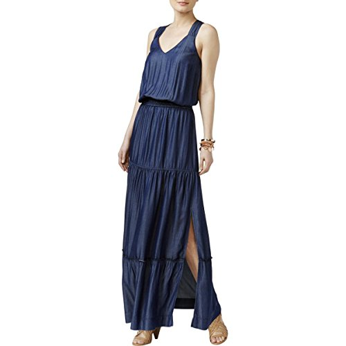 Lattice Back Dress - INC International Concepts Lattice-Back Maxi Dress (Jive Wash, XS)
