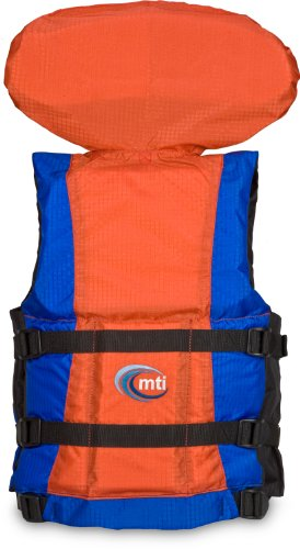 MTI Adventurewear Youth Canyon V Rafting PFD (Blue/Orange, Youth Size/50-90-Pound)