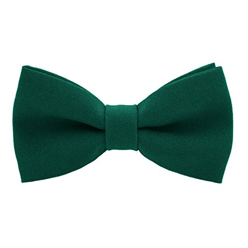 Classic Pre-Tied Bow Tie Formal Solid Tuxedo, by Bow Tie House (Large, Emerald Green) (Bow Pretied)