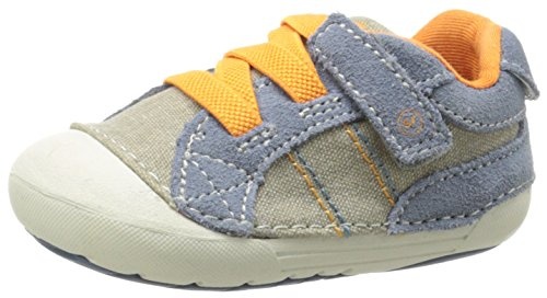 Stride Rite SRT SM Goodwin Shoe (Infant/Toddler),Blue/Brown,3 M US Infant