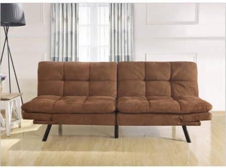 wooden frame memory foam futon brown micro fiber futon mattresses   amazon    rh   amazon