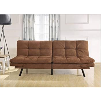 Amazon Com Mainstays Memory Foam Convertble Futon Camel