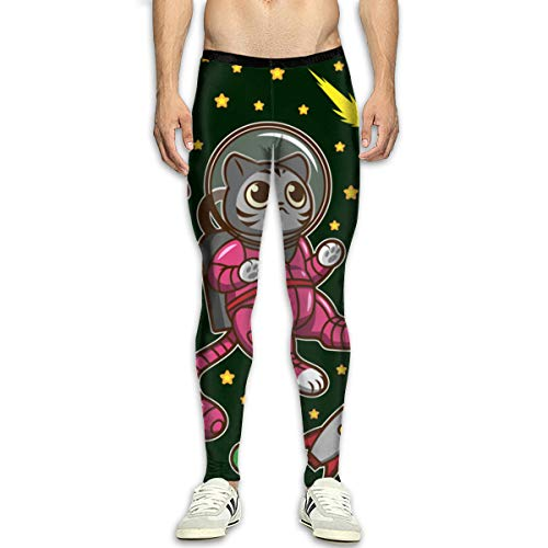 Kitty Cat in Space Men's Training Sport Pants Sport Trousers Sweatpants White -
