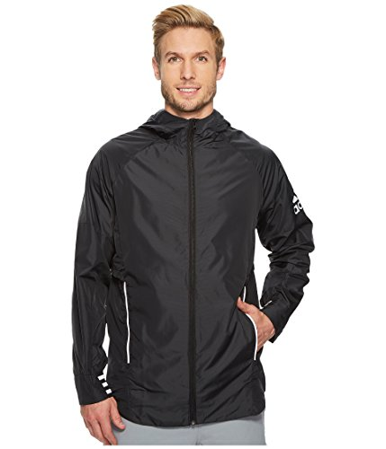 adidas Men's Sport ID Woven Shell Jacket Black Small