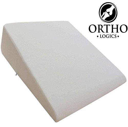 -[ Orthologics LARGE Bed Wedge Raised Pillow Acid Reflux GERD Memory Foam Back OL9  ]-