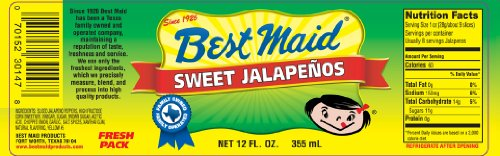 Best Maid Sweet Jalapenos 12 Oz (Pack of 4)