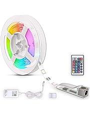 B.K.Licht LED Strip I 3 meter I RGB I LED lights incl. afstandsbediening I incl. kleurverandering I zelfklevend I LED strips