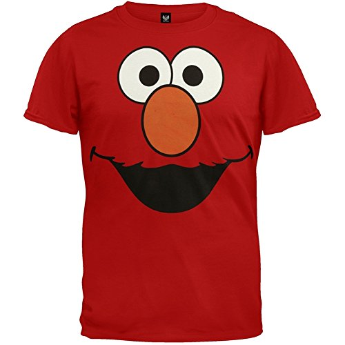 Sesame Street - Mens Elmo Face Costume T-shirt - 2X-Large - Store Mens Online