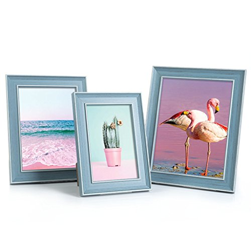 BesideTree Multi Size Picture Frame Set of 3, Include 6X8 5X7 4x6 with Easel Back for Desktop Display, #25B