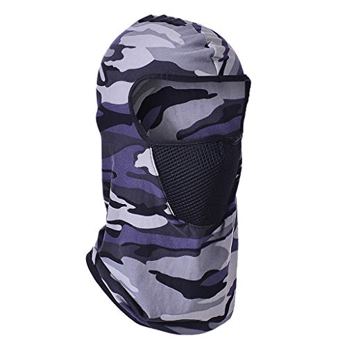Motocycle Full Face Mask,Crytech Unisex Breathable Balaclava Tactical Full Face Windproof and Dust Uv Sun Protection Cycling Ski Neck Cover Hood for Men Outdoor Hiking Fishing Skiing Usage (Gray)