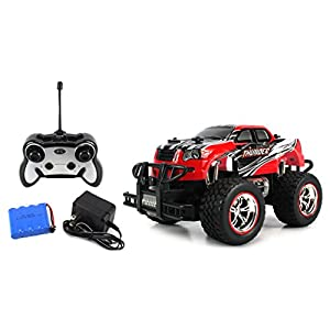 Mini V-Thunder Storm RC Truck 1:24 Scale Size Off Road Series Rechargeable Ready To Run RTR (Colors May Vary)