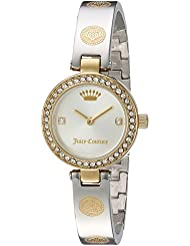 Juicy Couture Womens CALI BANGLE Quartz Stainless Steel Casual Watch, Color:Two Tone (Model: 1901531)
