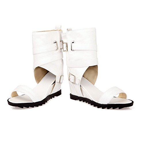9 US Character M Dance Soft Material Sandals Ladies Inside B 1TO9 White Heighten 4fUqUz