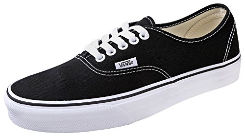 Vans Kid's Shoes Authentic Black/ True White Fashion Sneakers (1 M Little Kid's)]()