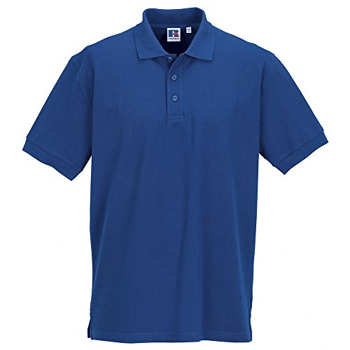 Russell Collection Colours Mens Ultimate Classic Cotton Short Sleeve Polo Shirt