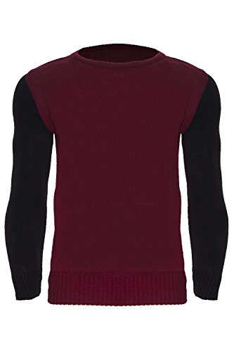 Oops Outlet Mens Designer Contrast Polo Turtle Neck Knitted Pullover Jumper X-Large Wine - Mn Outlets